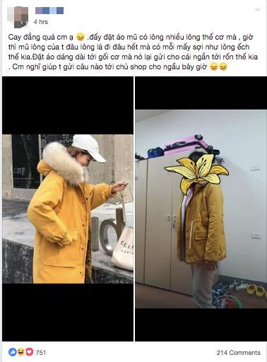 Đặt mua áo khoác mũ lông, chiều dài đến gối nhưng khi nhận hàng cô gái cầu cứu dân mạng chỉ cách trả lời shop sao cho ngầu - ảnh 1