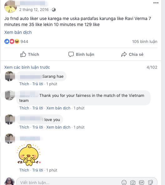 Sung sướng với quyết định của trọng tài, dân mạng Việt Nam làm điều lạ kỳ trên facebook ông - Ảnh 5.