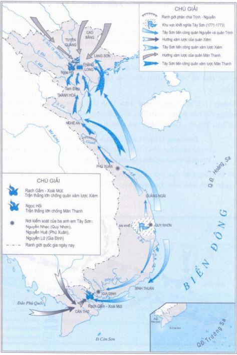 Tây Sơn lật đổ chính quyền họ Nguyễn và đánh tan quân xâm lược Xiêm - Ảnh 1.