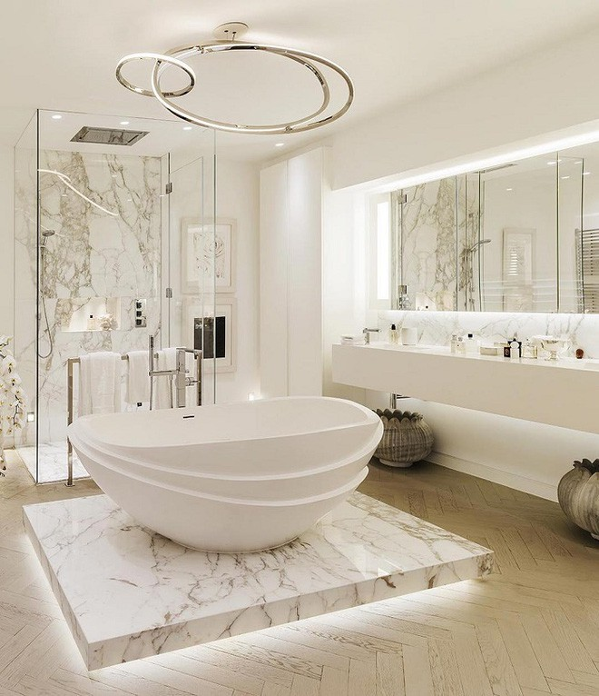 Cách thiết kế nhà tắm cực đẹp cho một năm mới vừa thoải mái lại hạnh phúc - Ảnh 4.