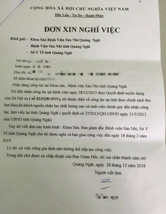 Sự thật lá đơn được cho là của BS ở Quảng Ngãi xin nghỉ việc để ủng hộ Hoàng Công Lương - Ảnh 1.
