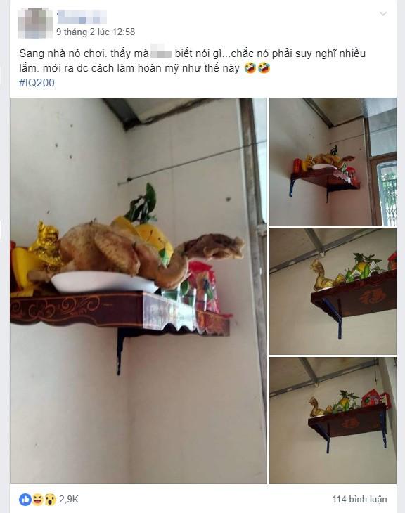 Sang nhà bạn chơi, thanh niên giật mình vì con gà cúng dị dạng trên bàn thờ - Ảnh 2.