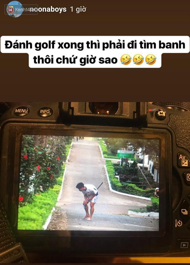 Fan bật cười với hình ảnh Công Phượng tập chơi golf trong sân học viện HAGL - Ảnh 1.