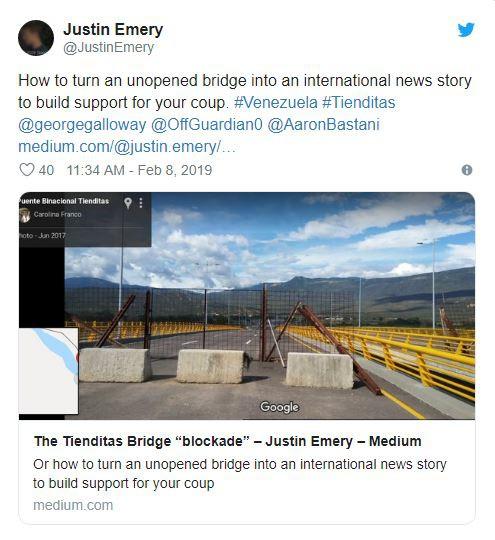 Cây cầu chưa từng hoạt động nói lên một sự thật khác về vụ TT Maduro chặn hàng viện trợ? - Ảnh 3.