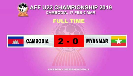 U22 Campuchia sớm vào bán kết, HLV Myanmar bỏ học trò về sớm - Ảnh 2.