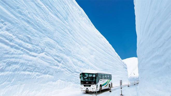 Tuyết phủ cao tới 17m, thung lũng quanh co ở Nhật được mệnh danh là The Wall đời thực - Ảnh 2.