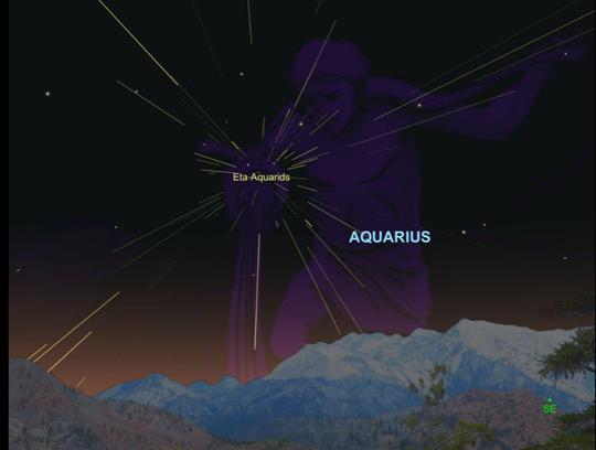 Cách xác định mưa sao băng - ảnh: NATIONAL GEOGRAPHIC