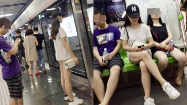 Cô gái khiến người đối diện đỏ mặt không dám nhìn vì cách ăn mặc kỳ quặc này - Ảnh 1.