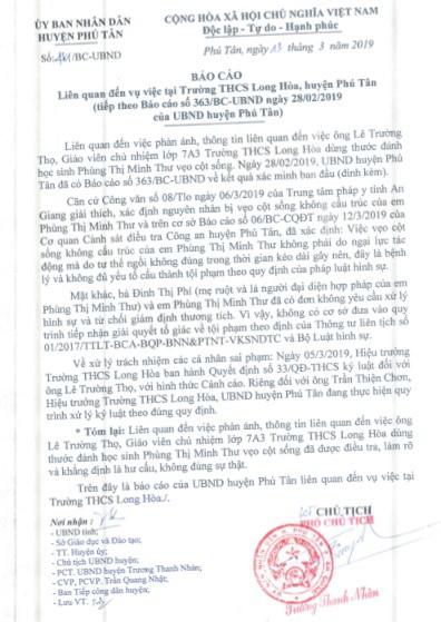 Kết quả điều tra vụ thầy giáo chủ nhiệm bị tố đánh nữ sinh cong vẹo cột sống - Ảnh 2.