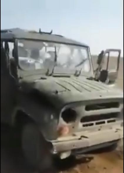 Bị phục kích, 3 lính Nga thiệt mạng ở Syria, chiếc xe Uaz thần thánh lỗ chỗ vết đạn - Ảnh 2.
