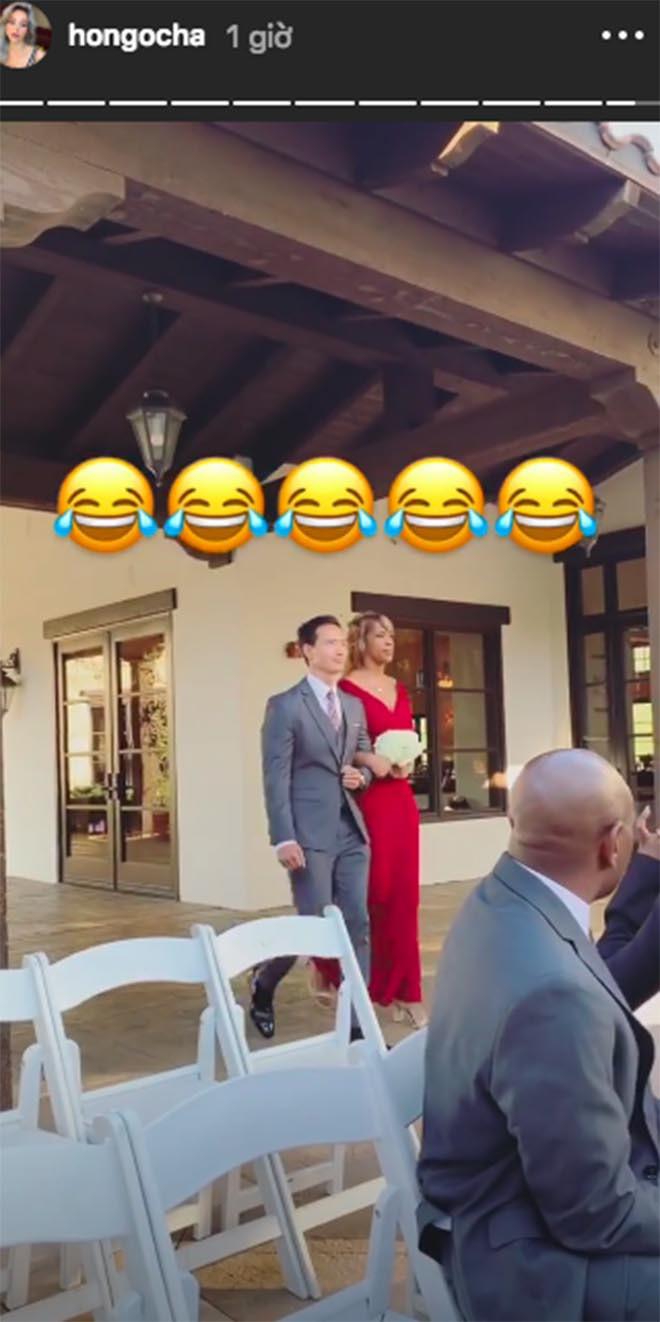 Hồ Ngọc Hà khoe lần đầu đi ăn cưới ở Mỹ và bất ngờ với biểu cảm của Kim Lý khi làm phù rể - Ảnh 5.