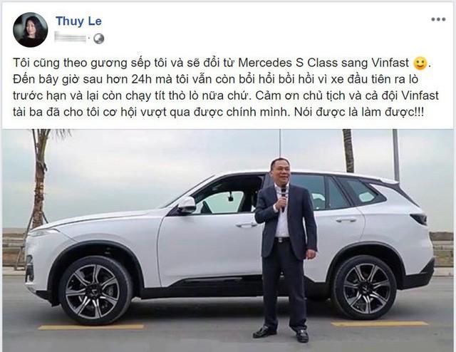 Nữ Chủ tịch VinFast tuyên bố đổi Mercedes-Benz S-Class sang xe nhà làm - Ảnh 1.