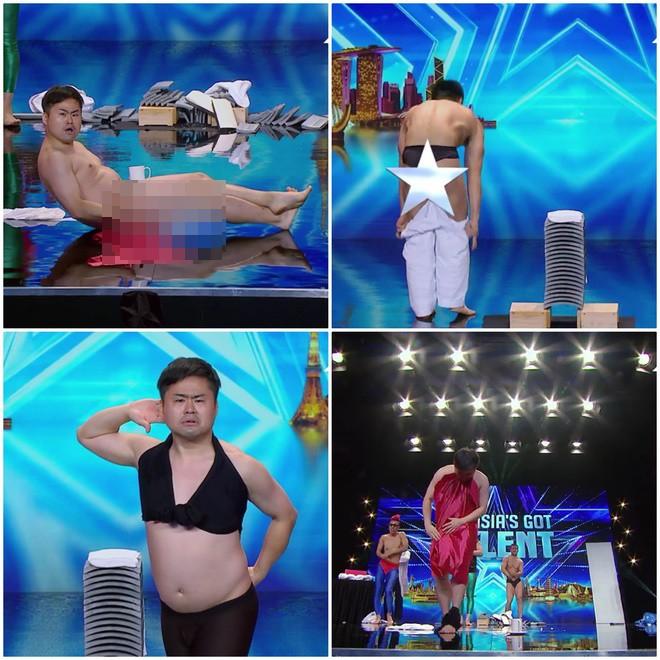 Asia's Got Talent: Thí sinh gây sốc khi thoát y diễn hài trên sân khấu - Ảnh 2.