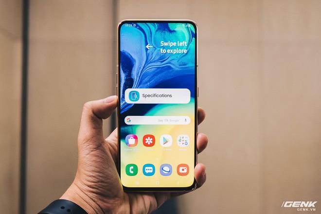 Đây là Samsung Galaxy A80: Camera nhào lộn vừa thò thụt vừa xoay lật, màn hình New Infinity không tai thỏ, camera 48MP - Ảnh 6.
