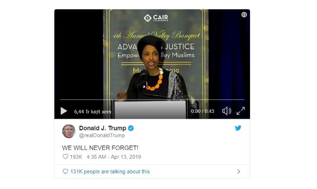 Chủ tịch Hạ viện lên án ông Trump vì công kích nữ nghị sĩ Hồi giáo - Ảnh 1.