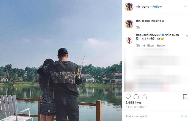Bạn gái xinh đẹp lần đầu đăng ảnh couple nói missing u, Chinh Đen vẫn bất chấp để lại 1 bình luận lầy lội - Ảnh 3.