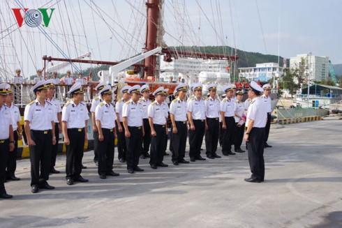Tàu buồm 286 - Lê Quý Đôn thực hiện huấn luyện thực hành trên biển - Ảnh 2.