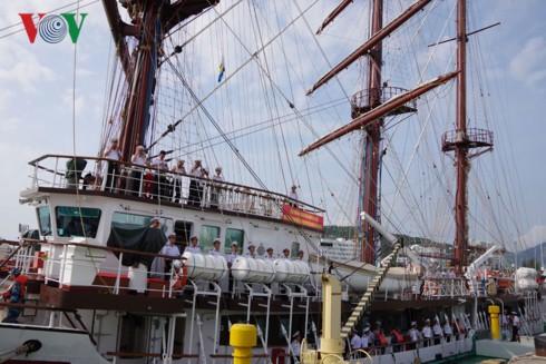 Tàu buồm 286 - Lê Quý Đôn thực hiện huấn luyện thực hành trên biển - Ảnh 4.