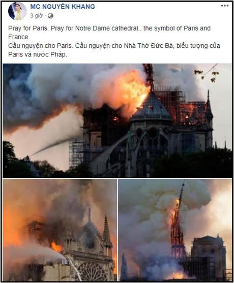 Sao Việt đau xót cầu nguyện trước cảnh tượng Nhà thờ Đức Bà Paris chìm trong biển lửa - Ảnh 5.