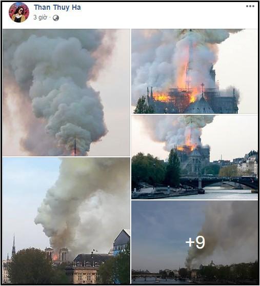 Sao Việt đau xót cầu nguyện trước cảnh tượng Nhà thờ Đức Bà Paris chìm trong biển lửa - Ảnh 7.