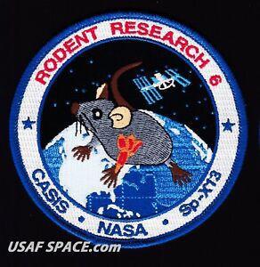 Logo sứ mệnh Rodent Research 6 được thực hiện năm 2017