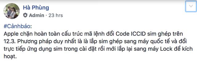 Người dùng iPhone Lock tại Việt Nam lại khốn đốn sau bản cập nhật iOS 12.3 - Ảnh 2.