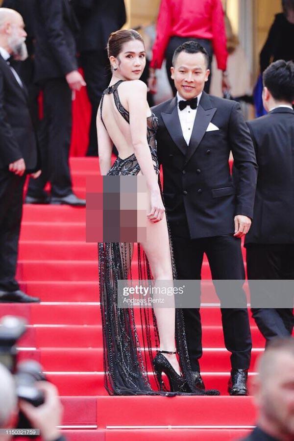 Phản ứng bất ngờ của dân mạng xứ Trung trước trang phục kiệm vải của Ngọc Trinh tại Cannes - Ảnh 3.