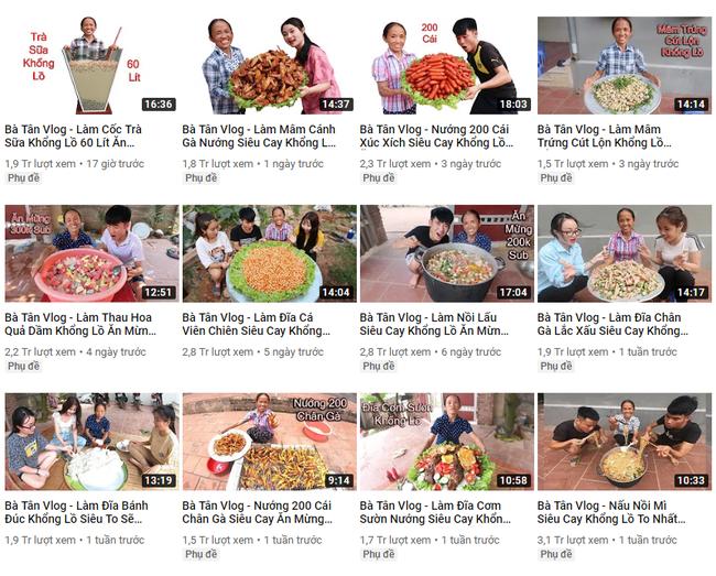 Bà Tân Vlog: Choáng ngợp với sức hút từ những món ăn khổng lồ của bác nông dân cao 1m1, nặng 32kg - ảnh 4