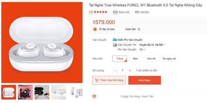 Dân mạng kháo nhau mua tai nghe không dây Funcl W1: Đỉnh cao True Wireless giá chưa tới 600 nghìn? - Ảnh 2.
