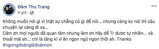 Phản ứng của Đàm Thu Trang khi bị đồn có bầu với Cường Đô la trước ngày cưới - Ảnh 3.