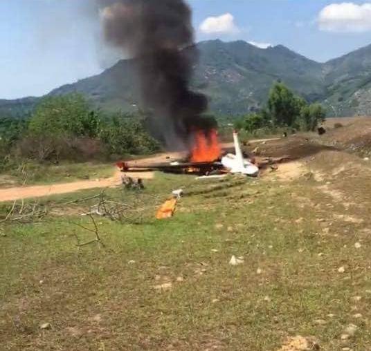 Máy bay quân sự rơi ở Khánh Hòa, 2 phi công hy sinh - Ảnh 1.