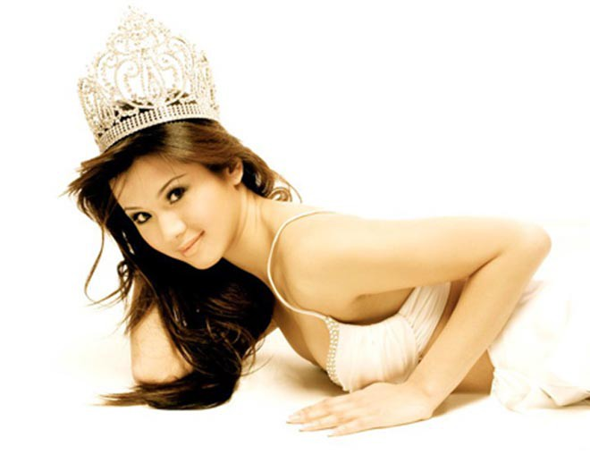 Danh tính hoa hậu gợi cảm, từng bị Quang Lê bỏ vì ghen tuông - Ảnh 1.