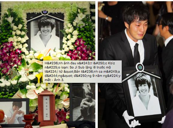 Hình ảnh đau xót lúc Kbiz náo loạn: So Ji Sub lặng lẽ trước mộ tài tử Bản tình ca mùa đông đúng 9 năm ngày mất - Ảnh 4.