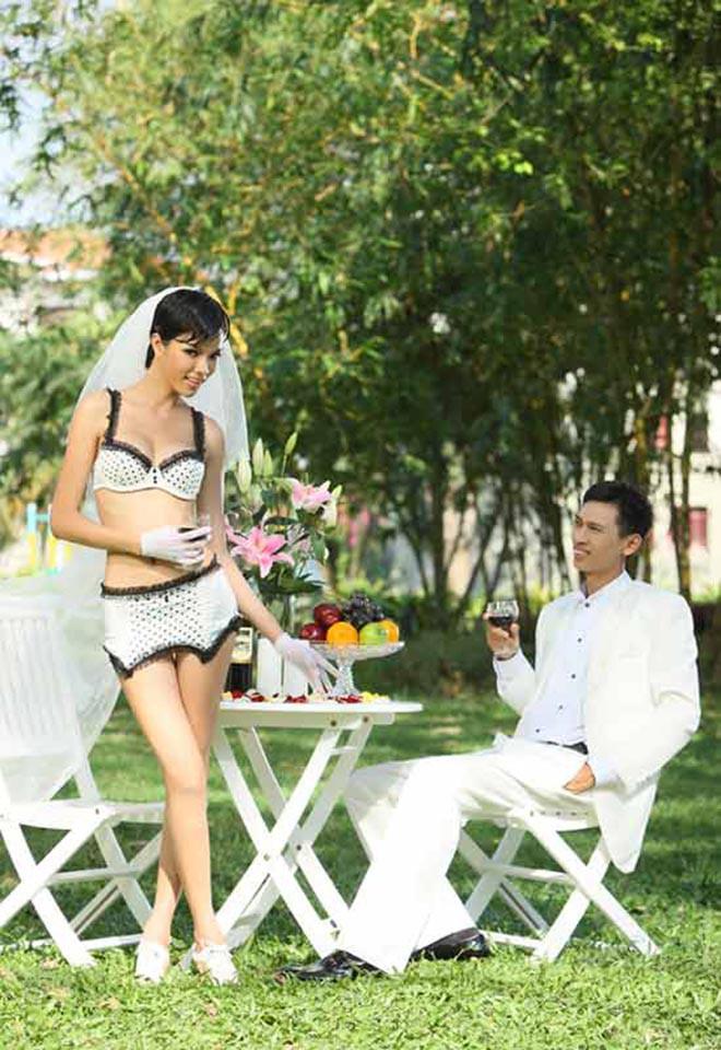 Ảnh cưới mặc bikini nóng bỏng, táo bạo của 3 mỹ nhân showbiz Việt - Ảnh 3.