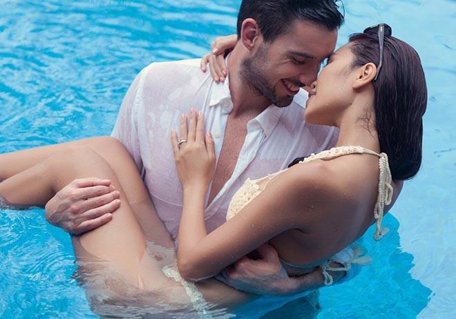 Ảnh cưới mặc bikini nóng bỏng, táo bạo của 3 mỹ nhân showbiz Việt - Ảnh 7.