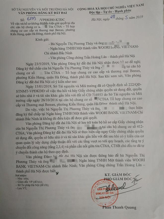 Dân chung cư ông Lê Thanh Thản bất ngờ việc bị thu hồi, hủy sổ đỏ mà không thông báo - Ảnh 3.
