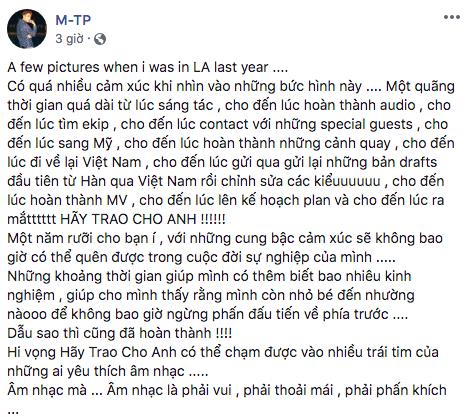 """Sơn Tùng M-TP nói gì khi MV mới gây """"bão"""", lập kỷ lục hoành tráng? - Ảnh 1."""