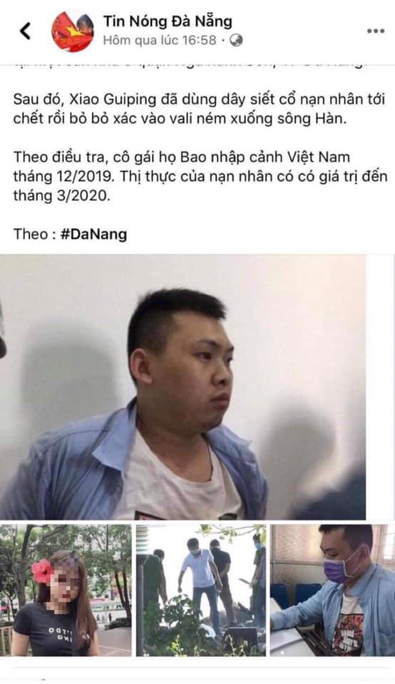 Vụ người Trung Quốc giết người, phân xác ở Đà Nẵng: Triệu tập quản trị viên 1 fanpage - Ảnh 3.