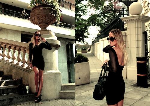Phối đồ dự tiệc nổi bật, sang trọng cùng váy đen huyền ảo 7