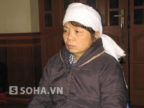 Chị Lê Thị Ránh, vợ của nạn nhân Trần Văn Tân (ở Phúc Thành, Kim Thành, Hải Dương).