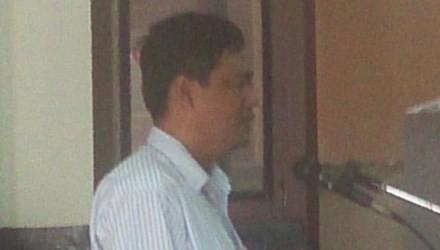 Bị cáo Nguyễn Tuyến Dũng nói lời sau cùng.