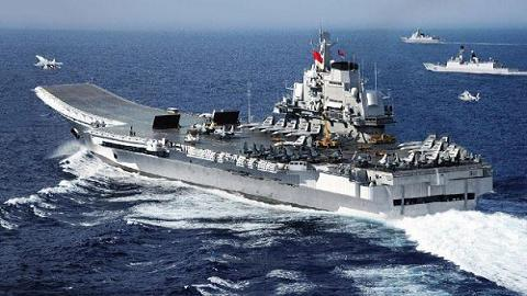 """Mô hình tàu sân bay Liêu Ninh do dân mạng Trung Quốc """"tô vẽ"""""""