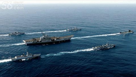 Mô hình tàu sân bay Liêu Ninh do dân mạng Trung Quốc thiết kế có tàu ngầm hạt nhân dẫn đầu