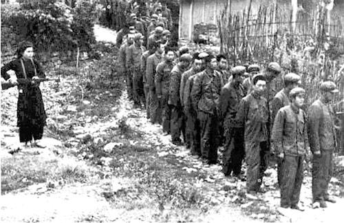Lính Trung Quốc bị bắt tại Cao Bằng (Ảnh tư liệu)