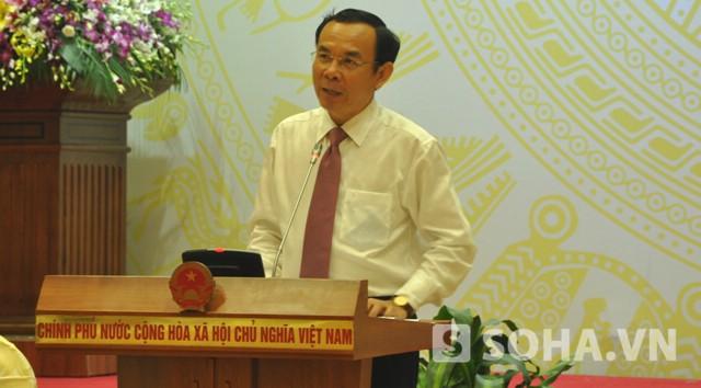 Bộ trưởng Nguyễn Văn Nên - Chủ nhiệm Văn phòng Chính phủ (Ảnh: Tuấn Nam)