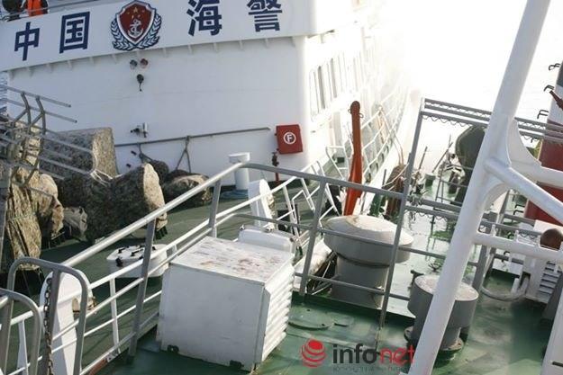 Tàu Hải cảnh 46105 của Trung Quốc cố tình đâm va với vận tốc lớn vào tàu CSB 2016