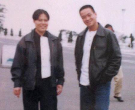 Dung Hà (trái) và Hải bánh trong chuyến đi chơi Hải Phòng của các băng nhóm giang hồ.
