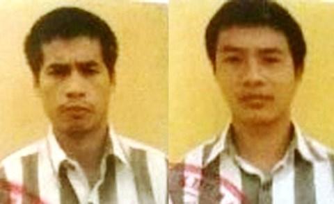 Đối tượng Tuấn (trái) và Sự (phải). Ảnh: công an cung cấp