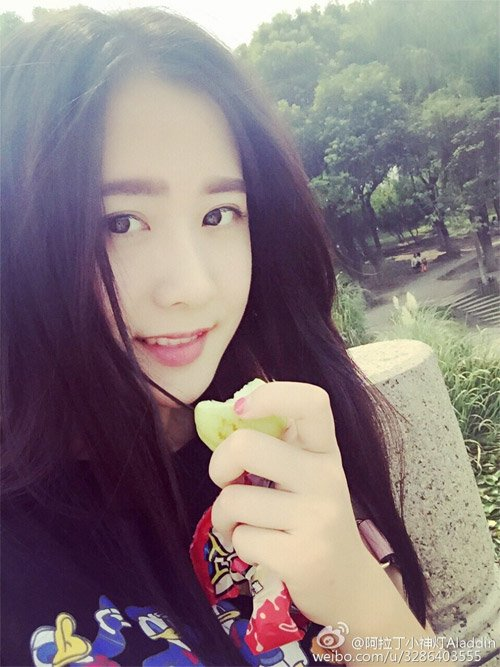 Hình ảnh đời thường xinh đẹp của cô giáo Đinh Đinh.