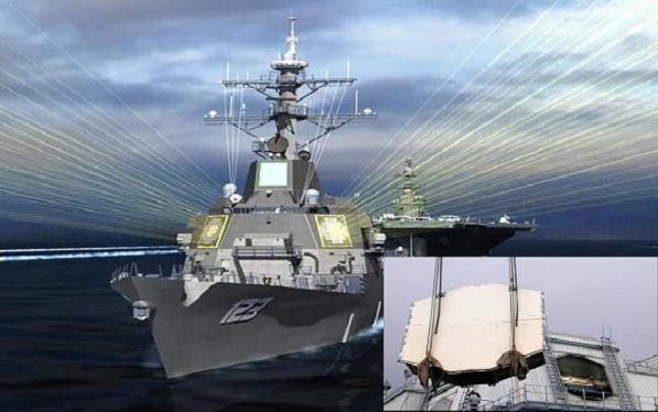 Trong tương lai, các khu trục hạm Aegis sẽ được trang bị radar Raytheon AMDR, tính năng vượt trội AN/SPY-1D(V) (ảnh nhỏ)